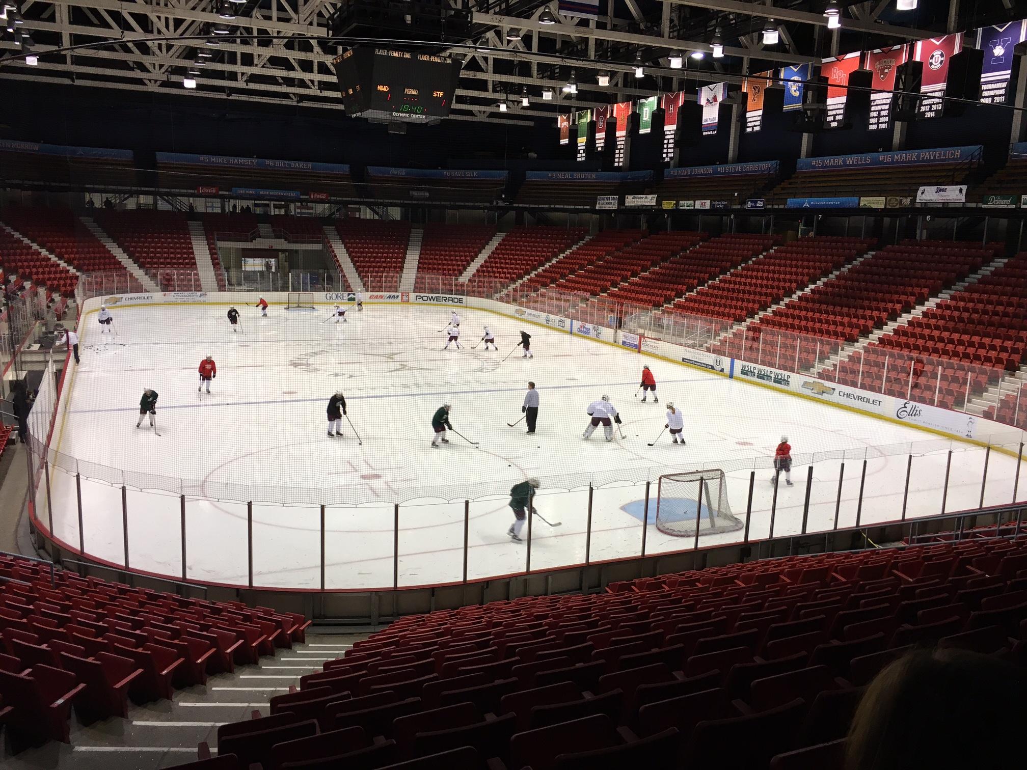 Lake Placid Practice At Herb Brooks Arena