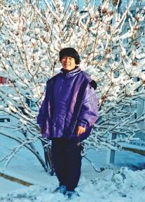Socorro dressed for Yukon winter. (Socorro Alfonso Collection)