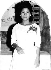 Socorro as a young girl in the Philippines, ca 1960. (Socorro Alfonso Collection)