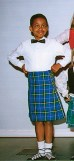 A dynamic performer from infancy, Rodney's first formal dance training was in Highland dance. Whitehorse, ca 1998. (Morgan Family Collection)