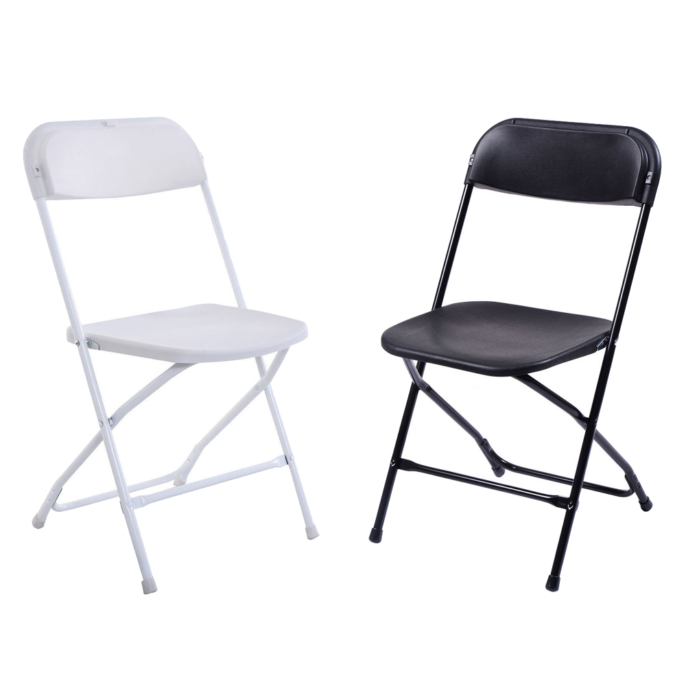 White Stackable Chairs Details About 5 10pack Commercial Wedding Quality Stackable Plastic Folding Chairs White Black