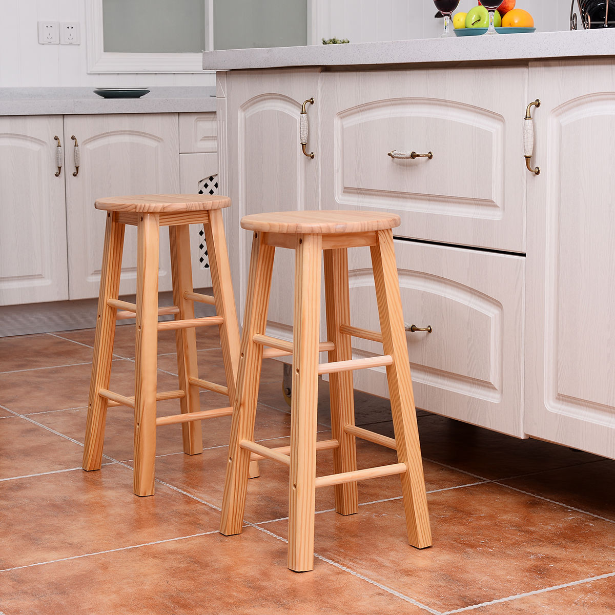 stool chair for kitchen counter gray arm set of 2 wood stools bar dining
