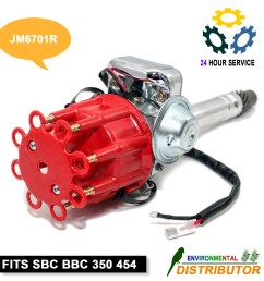 distributor ready to run w coil for hei chevy v8 sbc bbc 350 454 small big block [ 1600 x 1600 Pixel ]