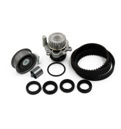 new timing belt water pump kit for 01 06 volkswagen beetle golf jetta 1 8l l4 [ 1000 x 1000 Pixel ]
