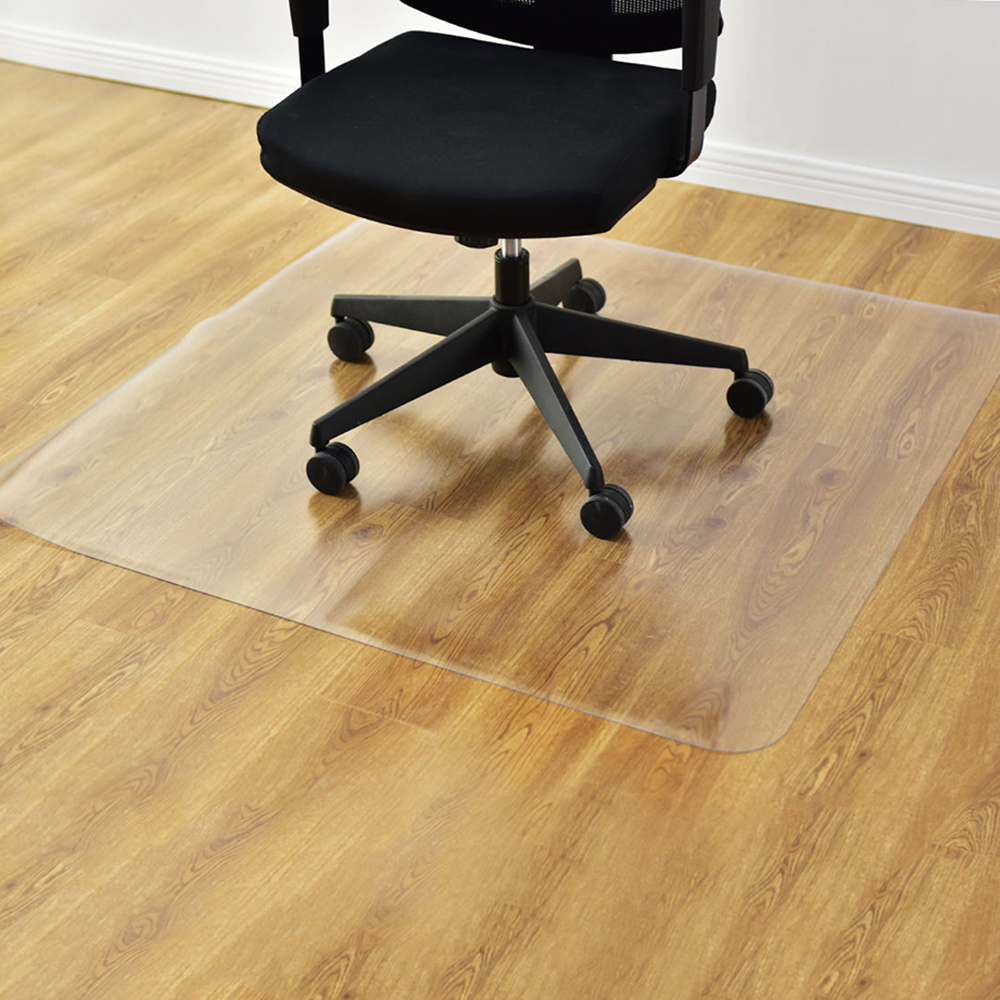 rolling chair mat for wood floors swing stand diy universial floor pvc square home office 48 x48