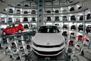 Foto na Autostadt, Alemanha, a cidade do automóvel da Volkswagen