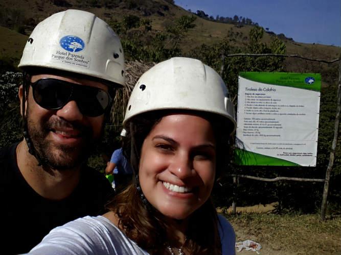 Nós aproveitamos as tirolesas no Parque dos Sonhos (Foto: Hi-Mundim)