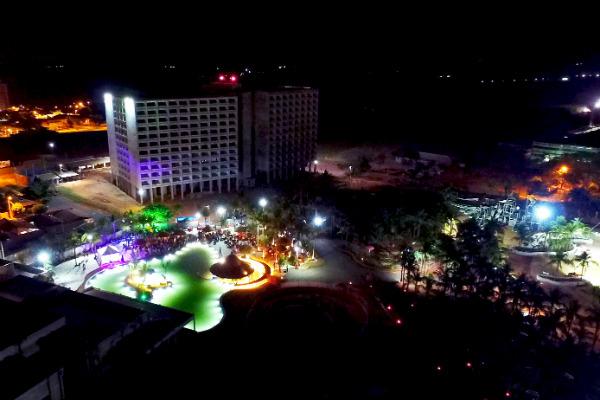 Vista aérea do Hot Beach Park e Resort, em Olímpia