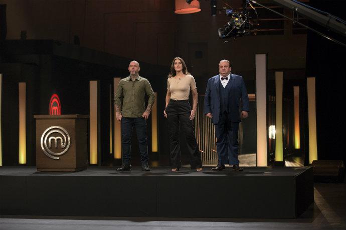 Os chefs Henrique Fogaça, Paola Carosella e Erick Jacquin