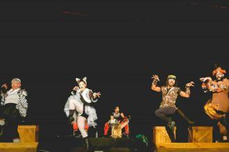 Santimbancos no festival de teatro do Riopreto Shopping
