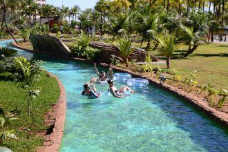 Rio Lento, no Hot Beach Olímpia, parque aquático