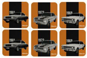Produtos homenageiam os 50 anos do Opala