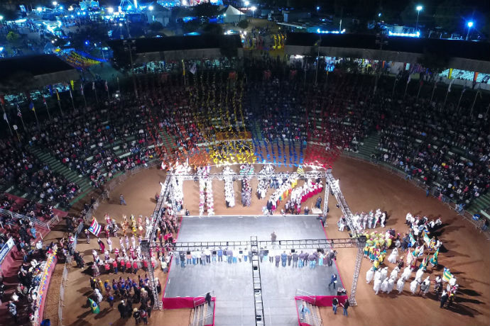 Abertura do Festival de Folclore de 2017 (Fotos: Divulgação)