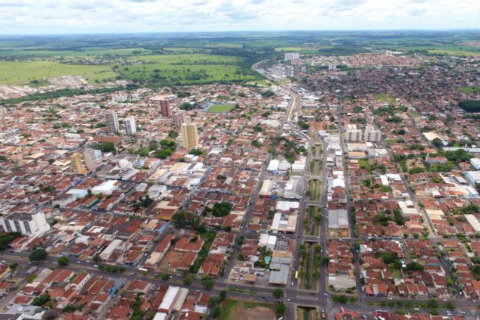 Visão geral de Olímpia, SP (Foto: Divulgação/Secretaria de Turismo)