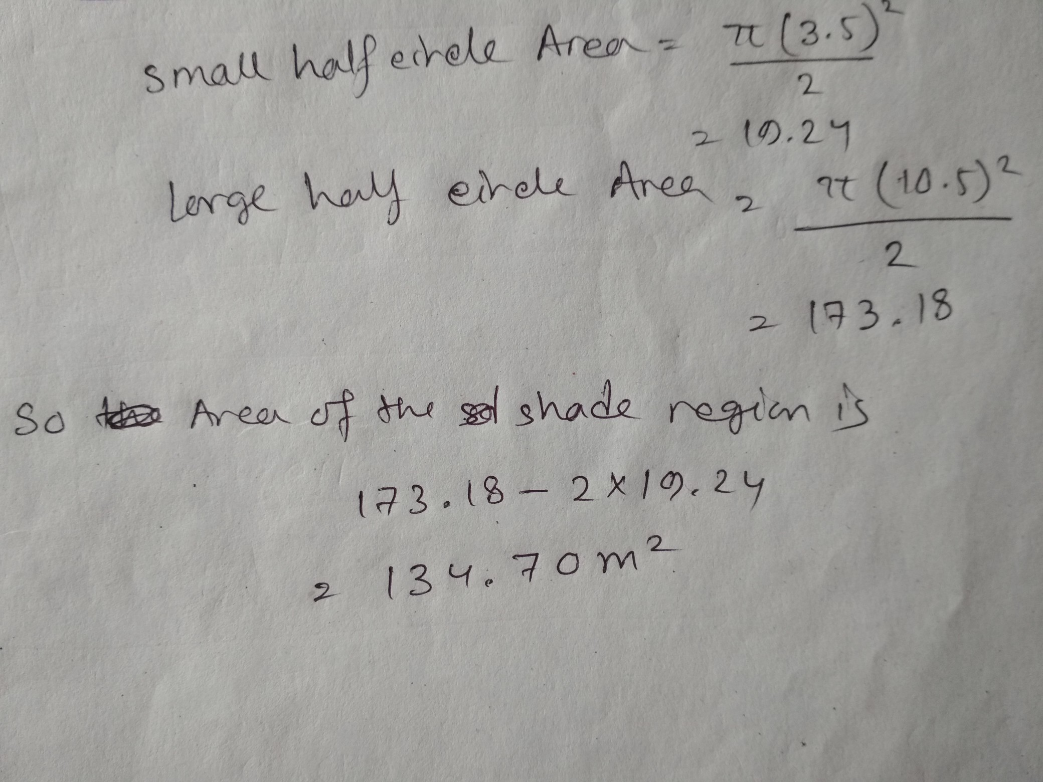 Find The Area Of The Shaded Region In Each Of The