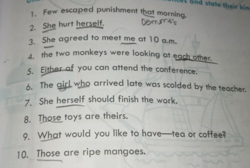 small resolution of underline the pronouns in these sentences and state their kind. - Brainly.in