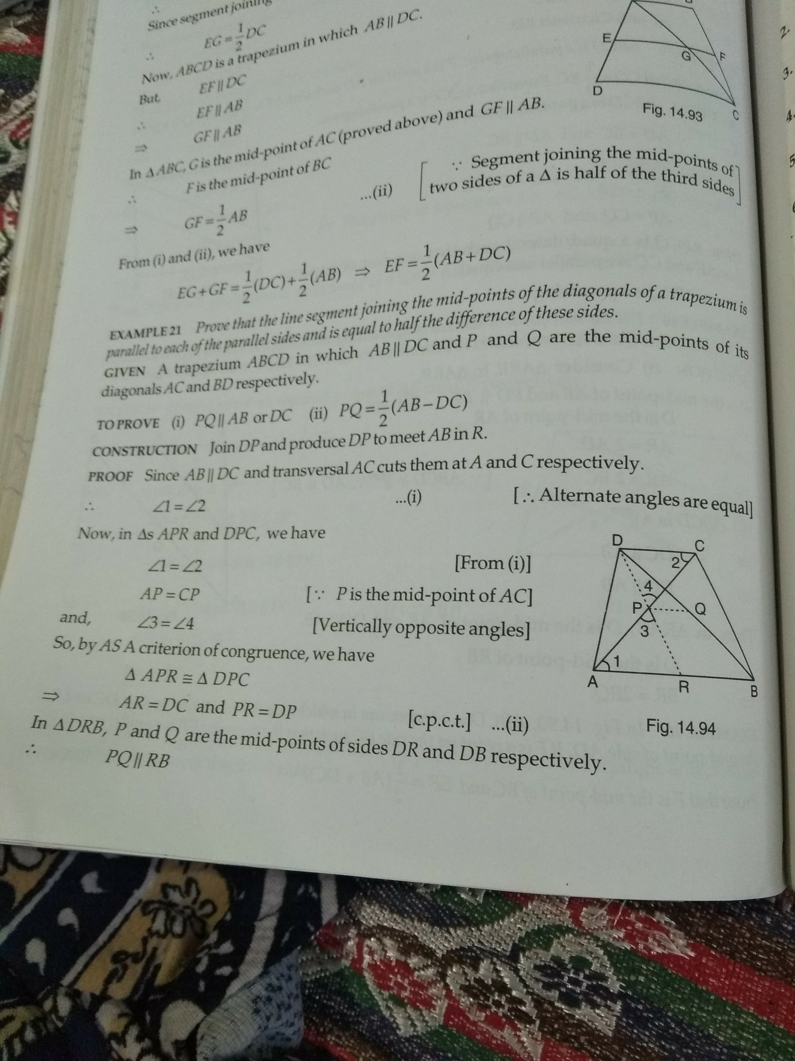 Prove That The Line Segment Joining The Midpoints Of The
