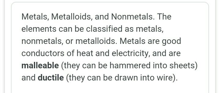 define metal non metal