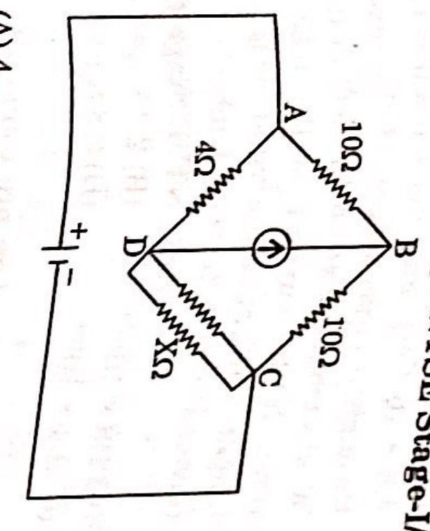 in the given circuit diagram yhe the value of resistance X