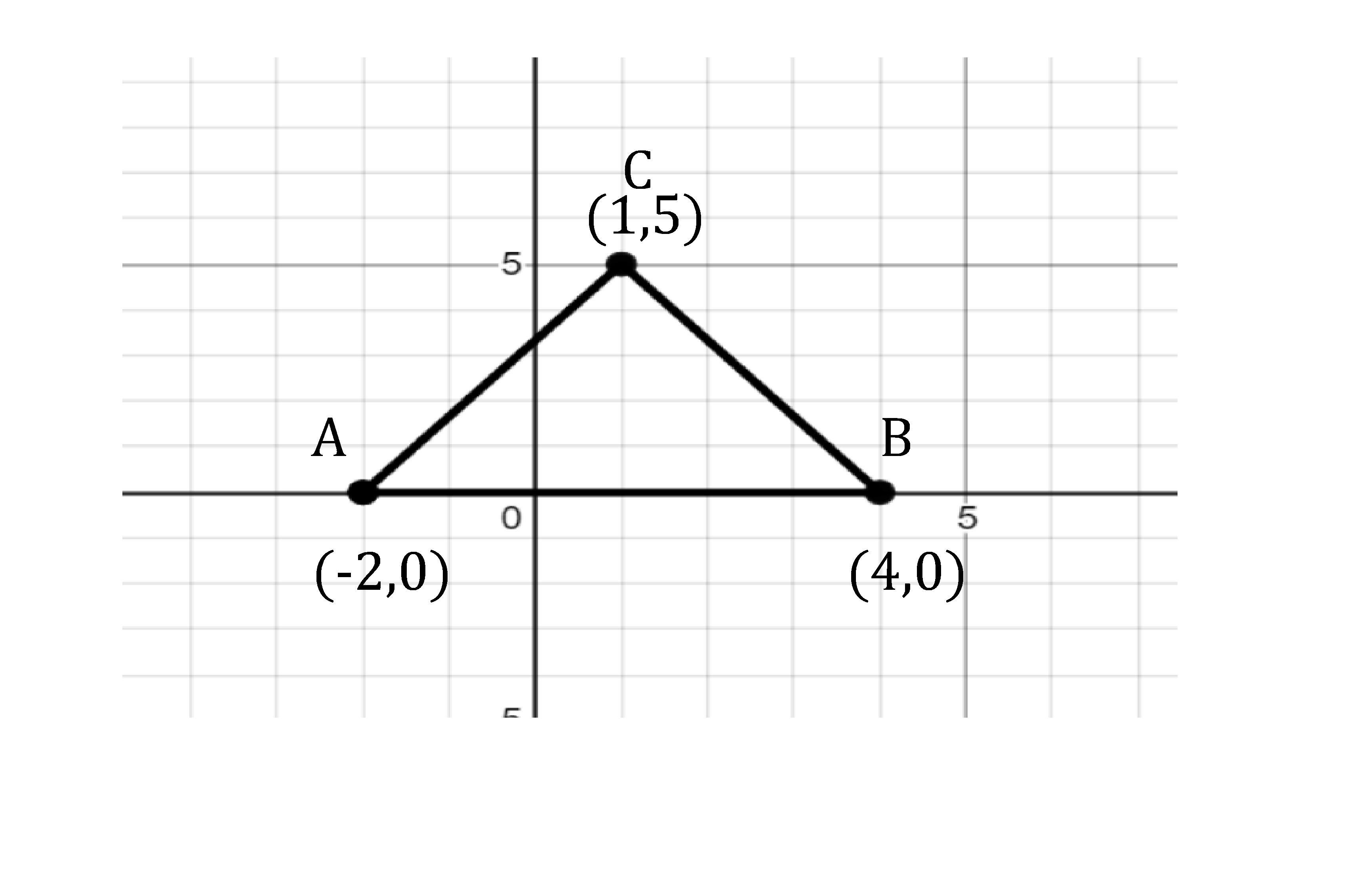 draw a triangle ABC on graph paper having the coordinates
