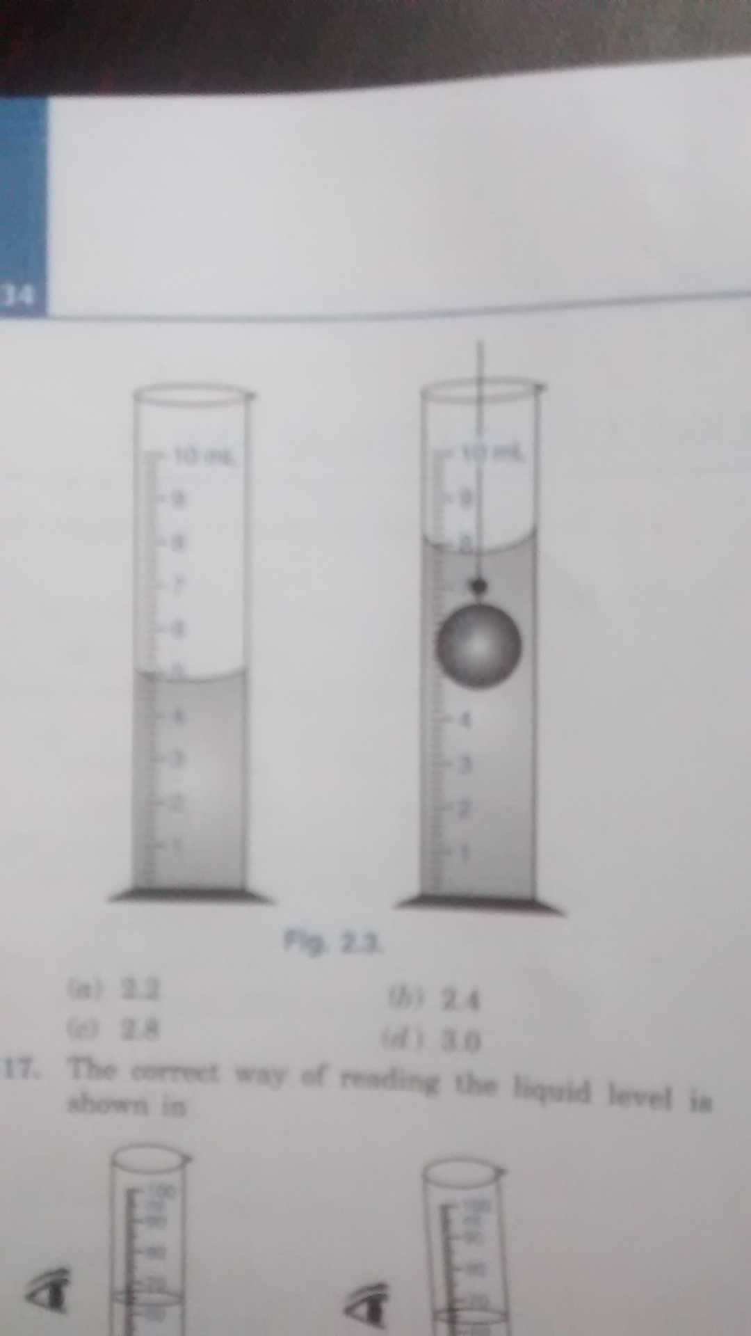 The Water Level In Measuring Cylinder Before And After