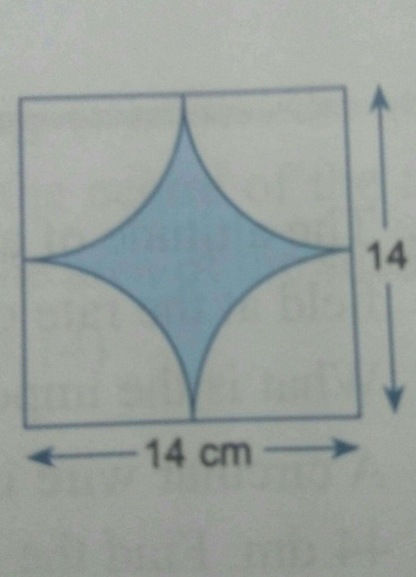 Calculate The Area And Perimeter Of The Shaded Part Of The