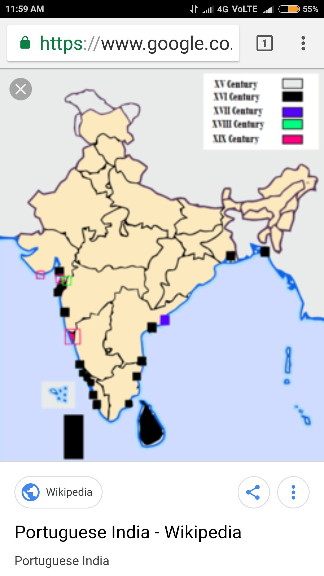 On The Political Map Of India Locate Colonies Under