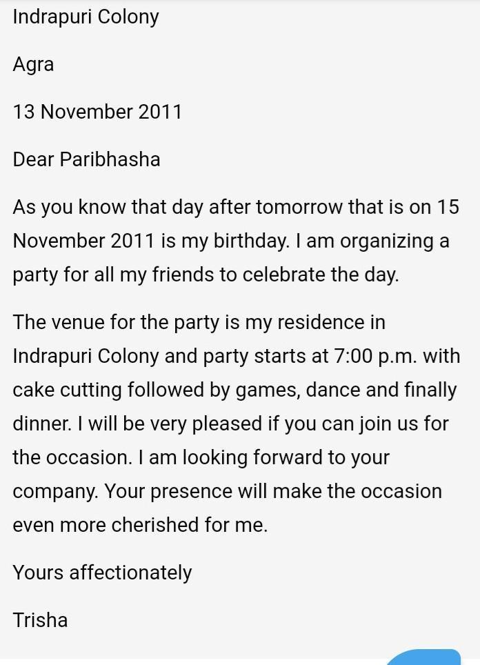 letter aboiut invite your friend for