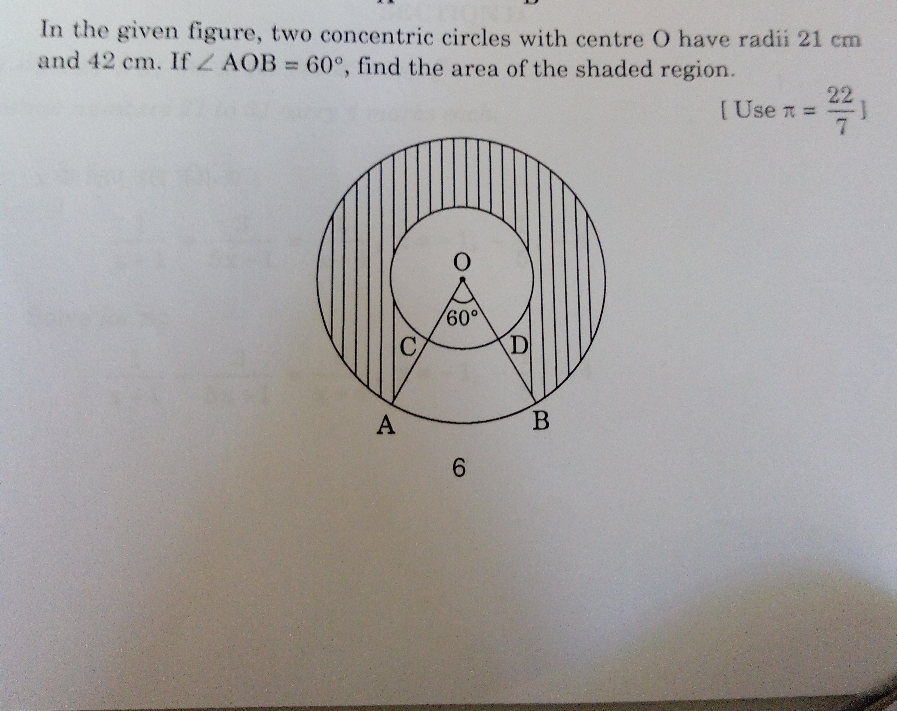 In The Given Go Figure Two Concentric Circle With Center