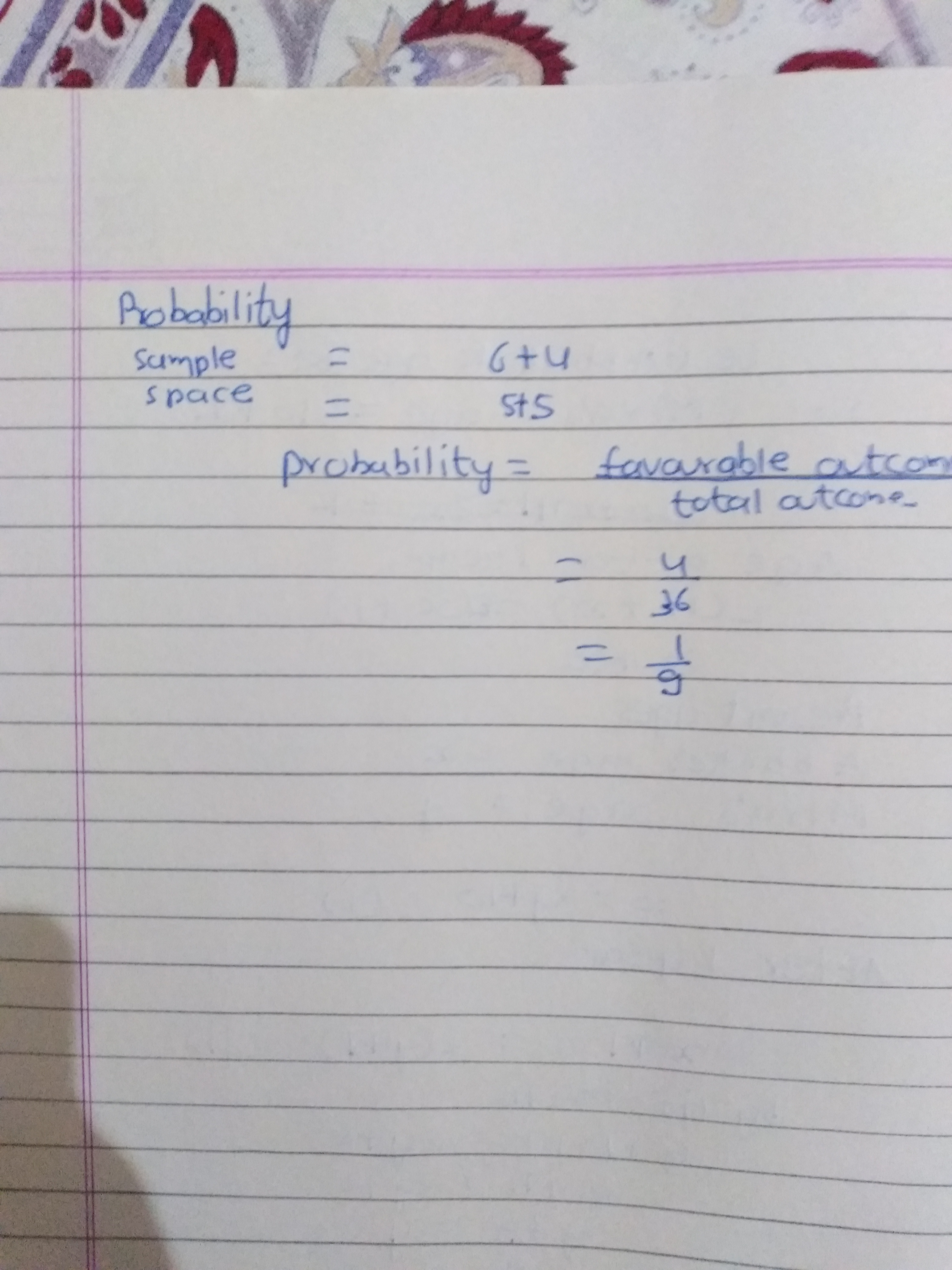 In A Single Throw Of Two Dice Find The Probability Of