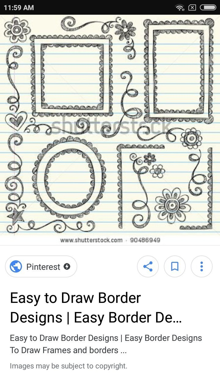 Easy Borders To Draw : borders, Simple, Border, Design, Brainly.in