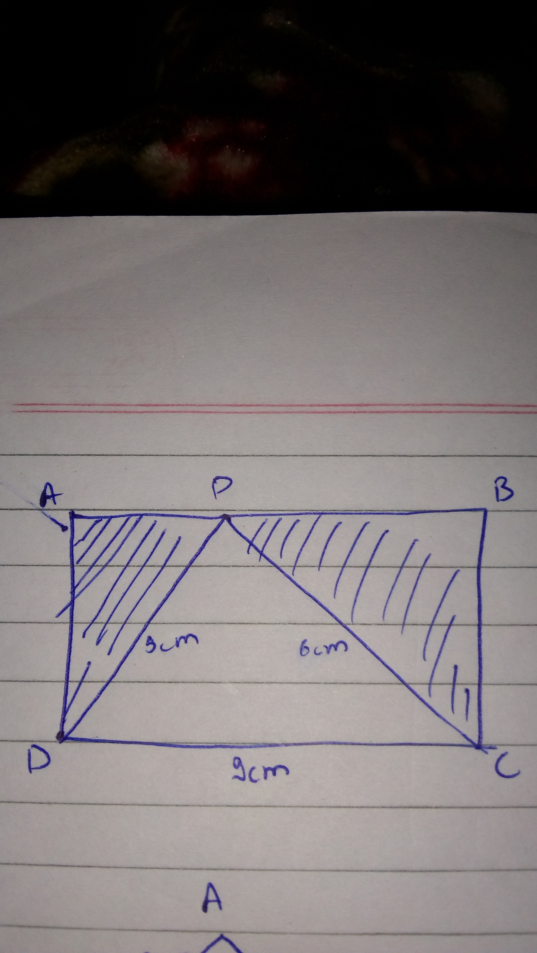 Find The Area Of The Shaded Region If Abcd Is A Rectangle