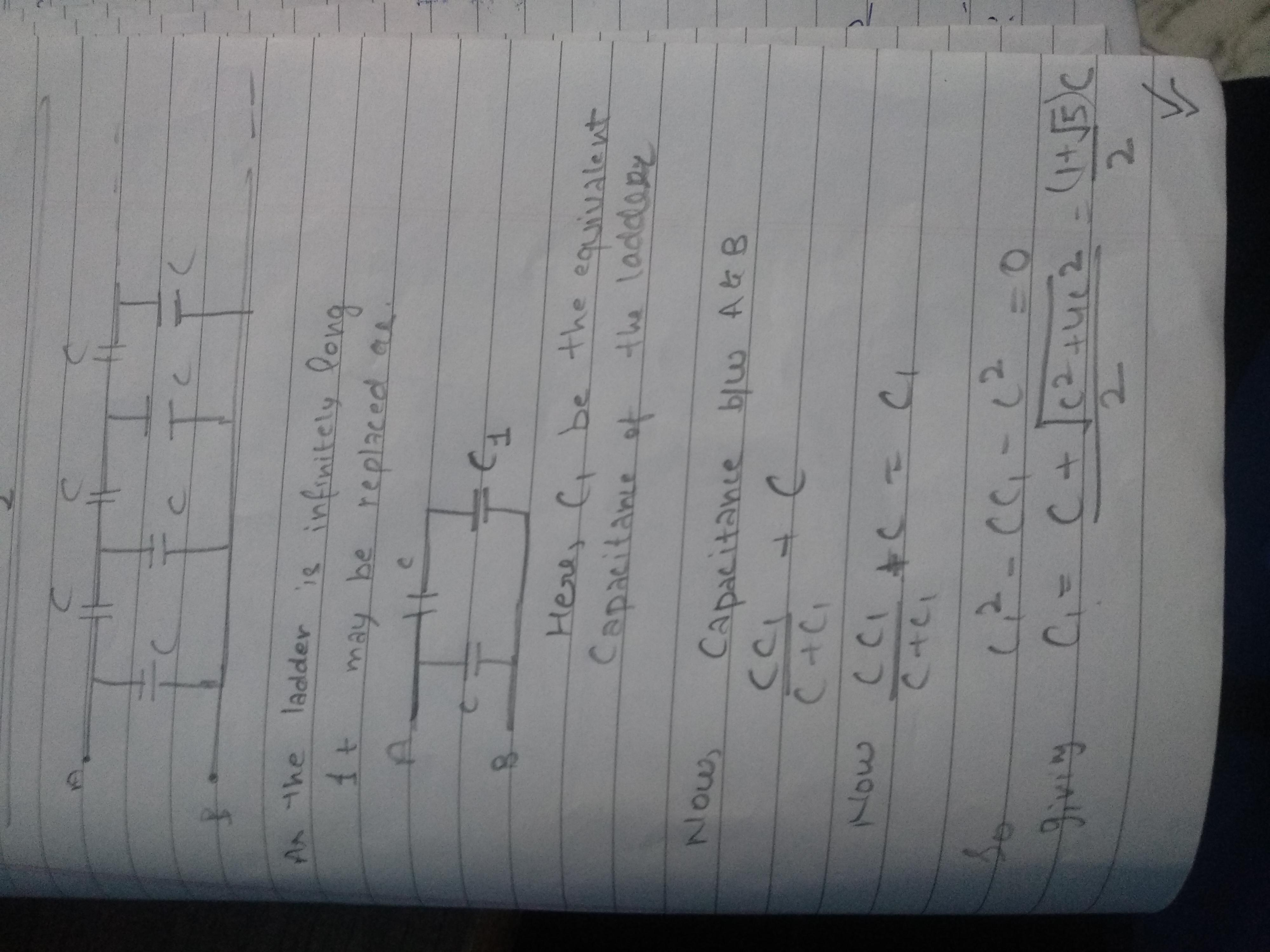 How To Calculate The Equivalent Capacitance Of An Infinite