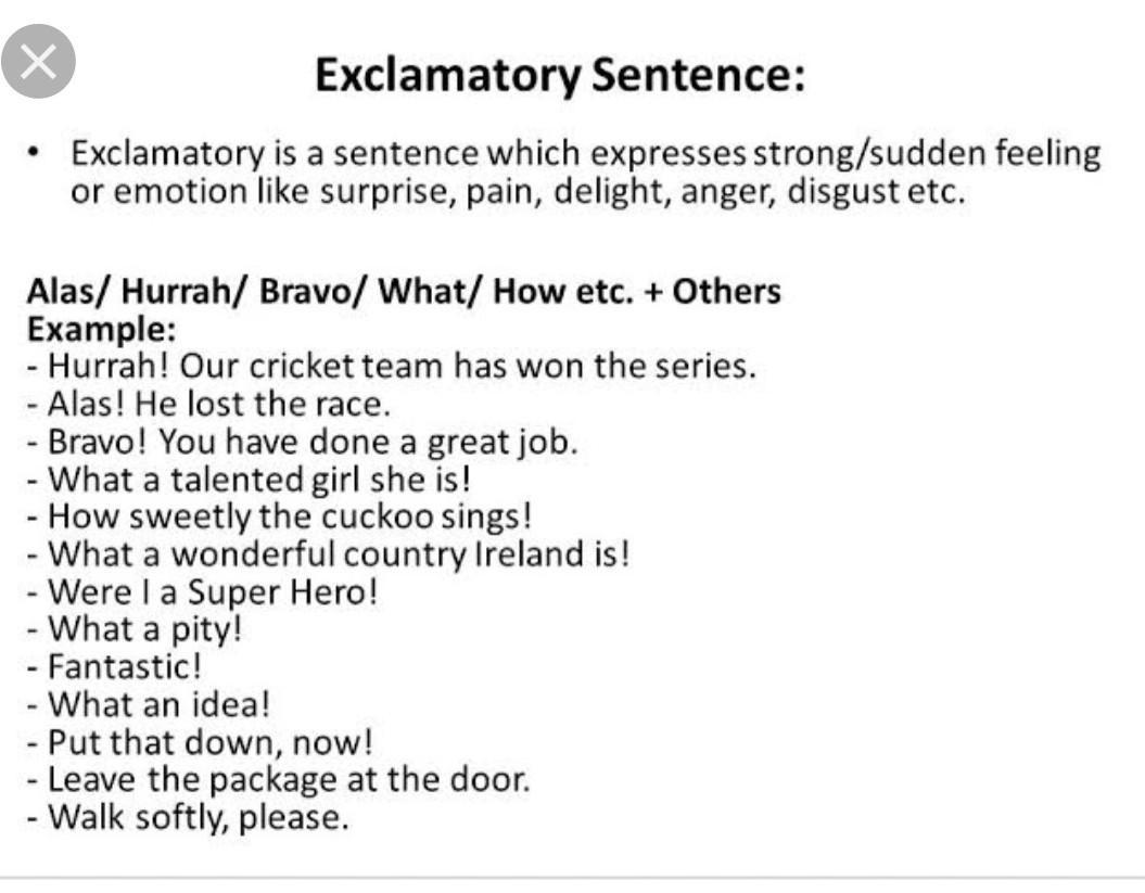 10 Example Of Exclamatory Sentences