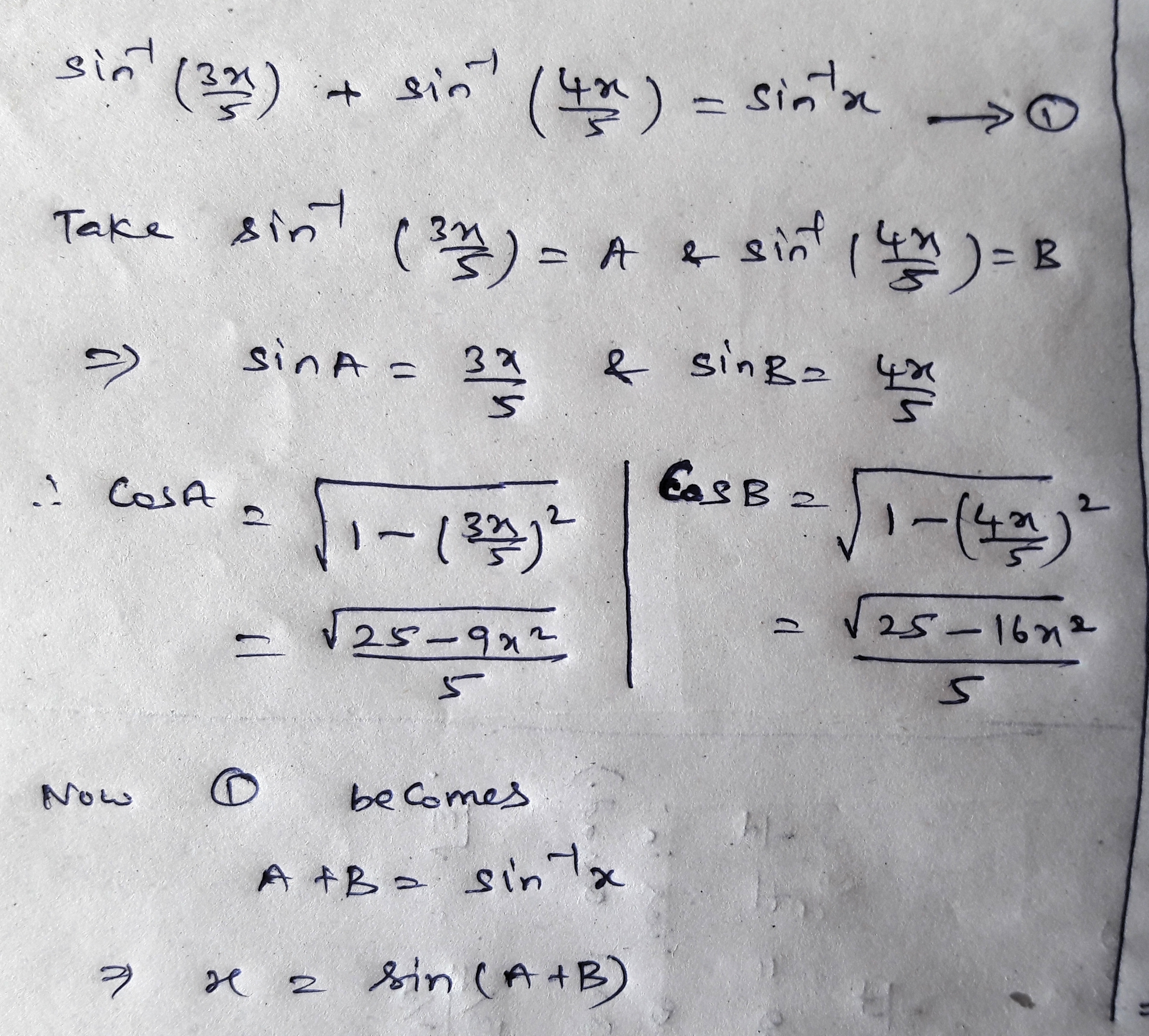 solve the equation sin