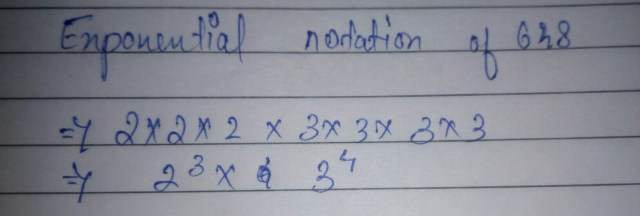 Express 26 in exponential notation - Brainly.in