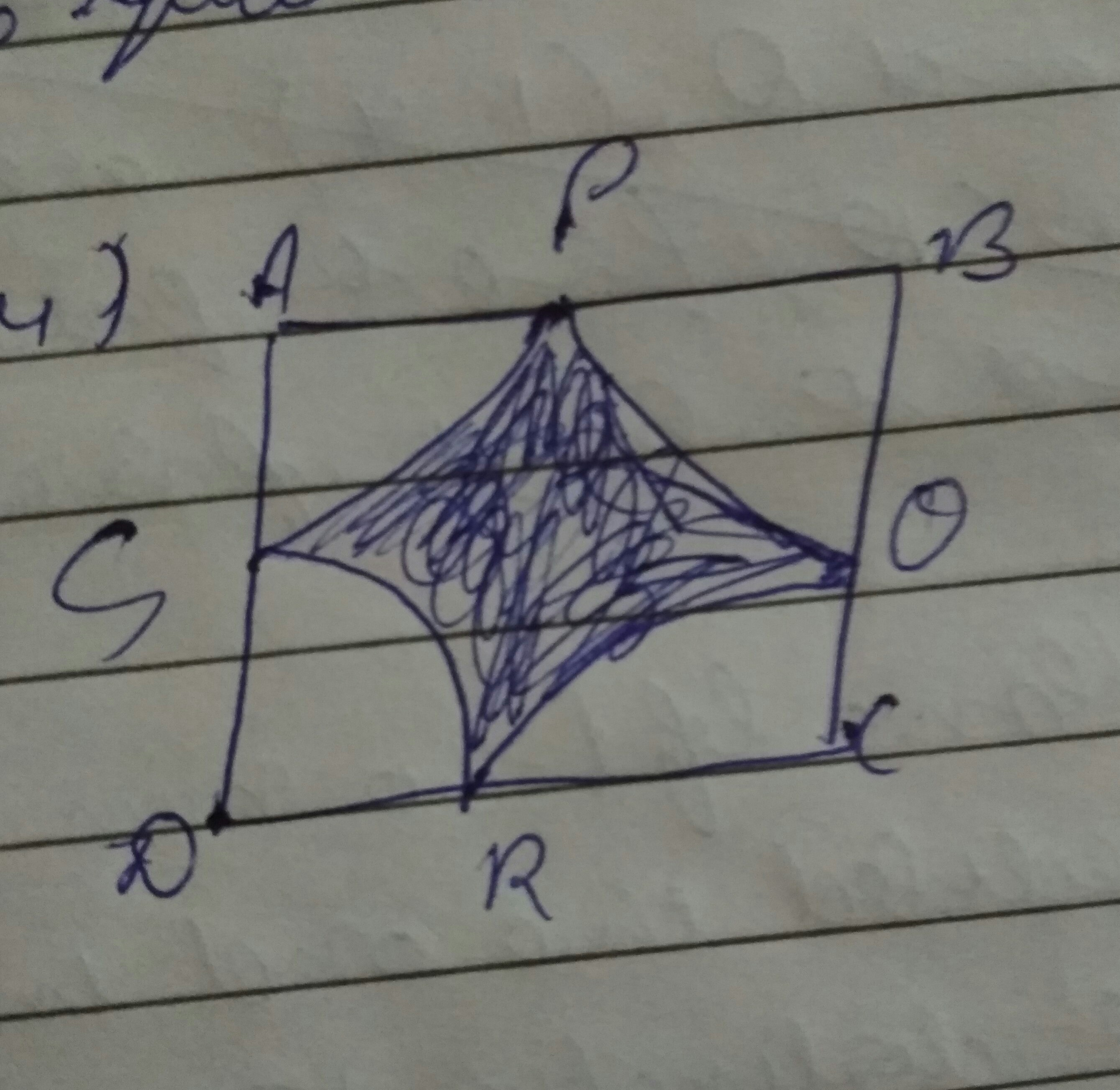 Find The Area Of Shaded Region Where Arc Drawn With Centre