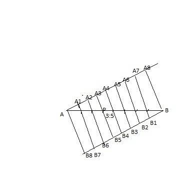 DRAW a line segment AB of length 7cm find a point P on AB