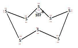 What would be the electron dot structure of a molecule of