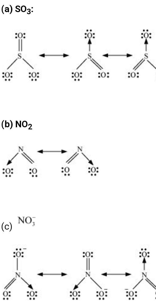 Sulfur Trioxide Resonance Structures : sulfur, trioxide, resonance, structures, Write, Resonance, Structures, Brainly.in