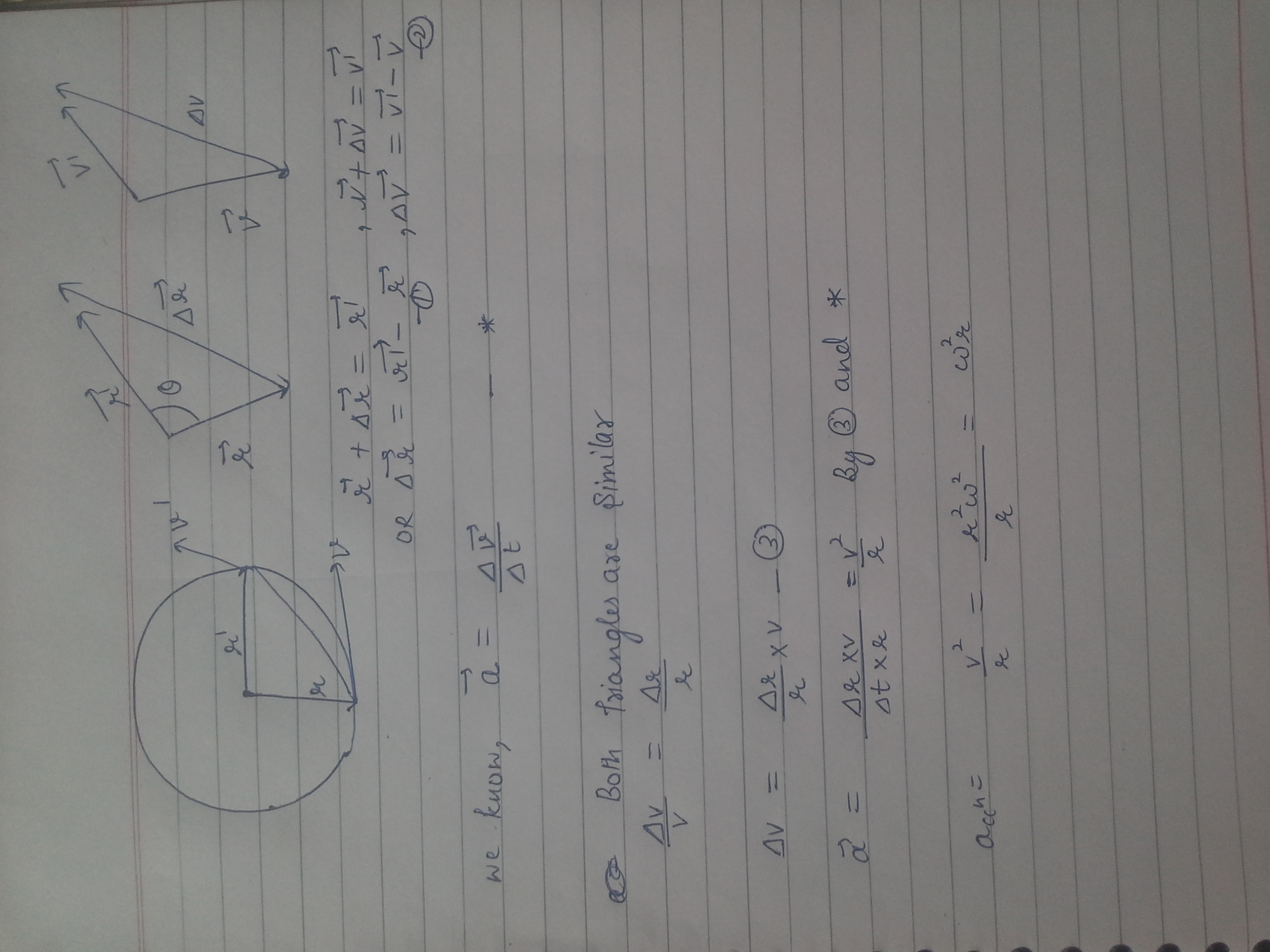 Derive An Expression For The Centripetal Acceleration For Uniform Circular Motion