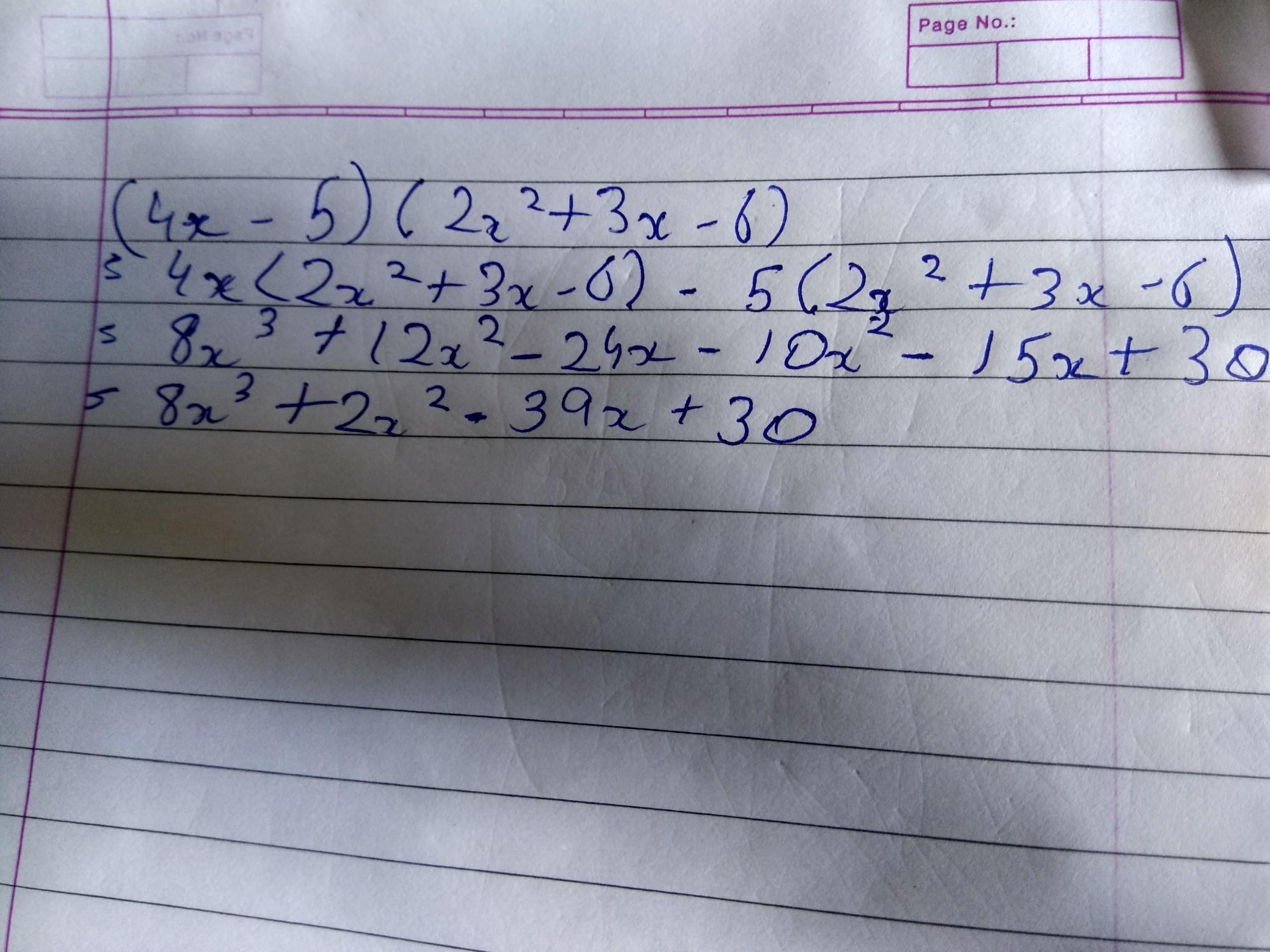 find 4x 5 2x