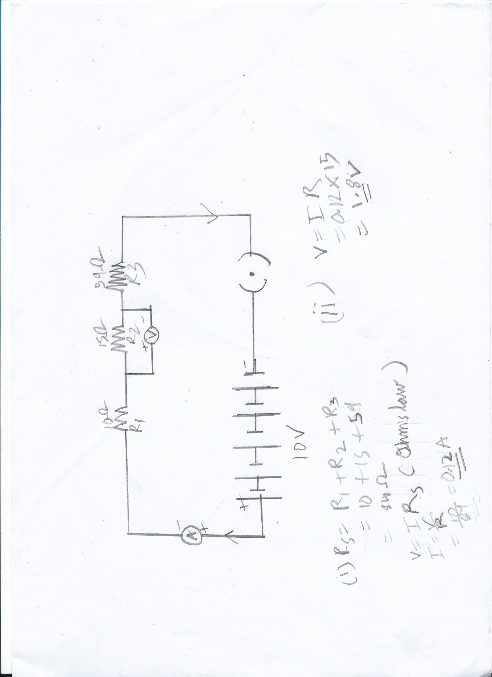 15 Draw a circuit diagram for a circuit consisting of a