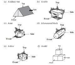 5 object which are combination of two or more 3d shapes