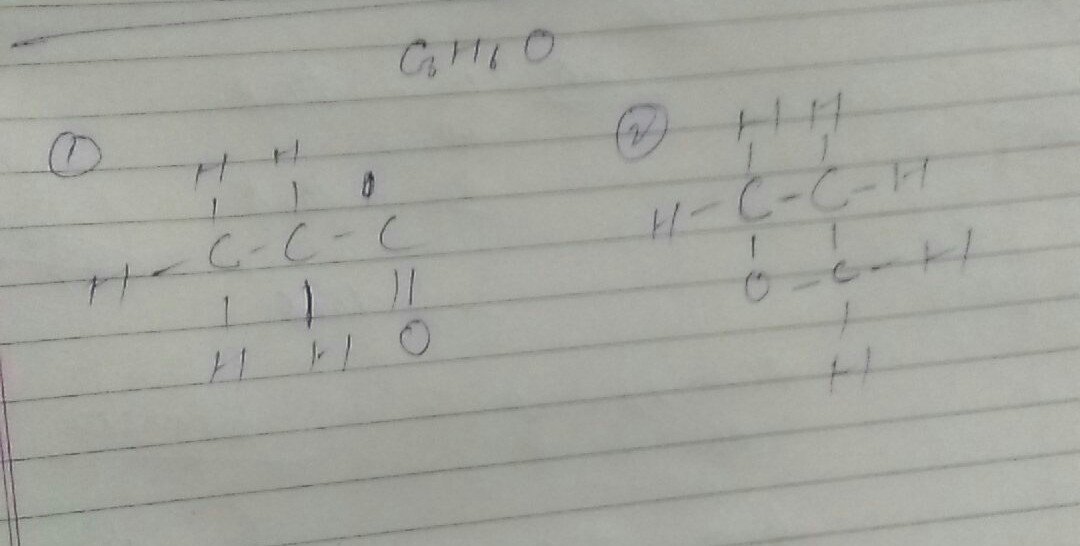 Draw two possible isomers of the compound with molecular