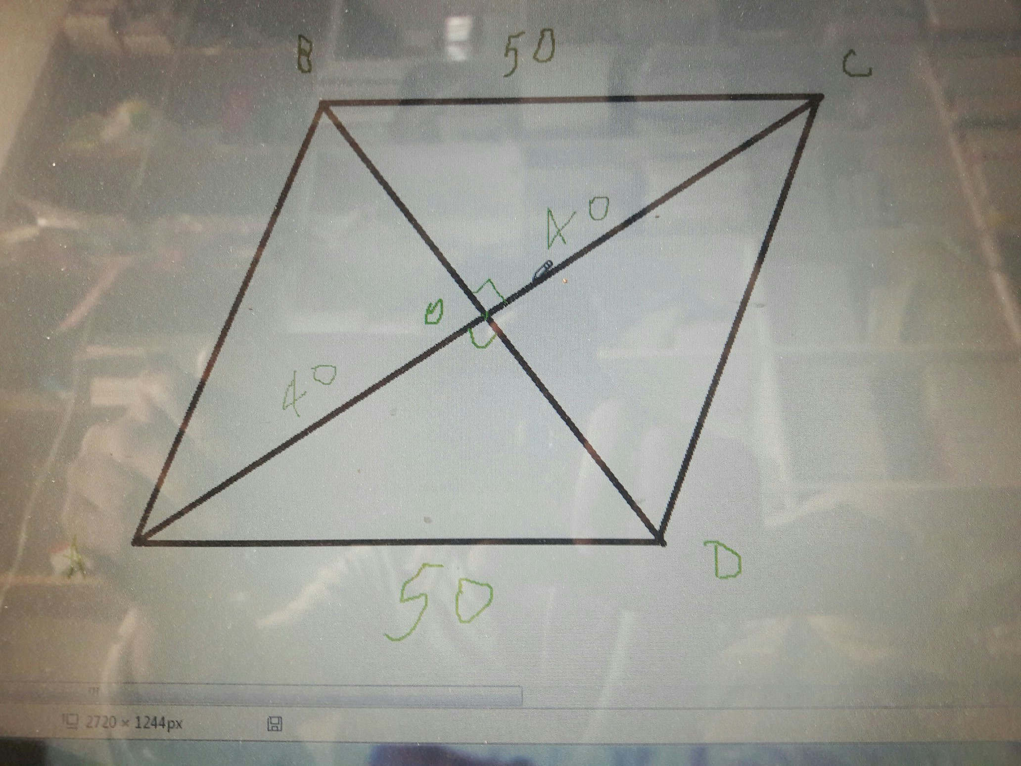 Find The Area Of Rhombus Whose Perimeter Is 200m And One