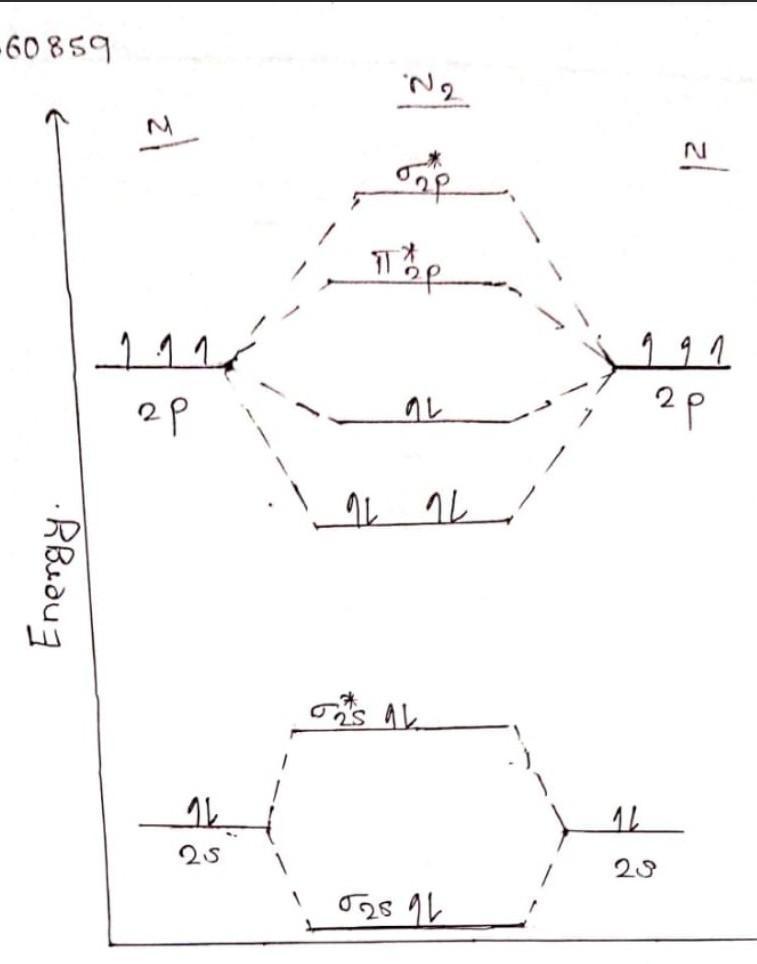 N2+ Molecular Orbital Diagram : molecular, orbital, diagram, Molecular, Orbital, Diagram, Molecule, Brainly.in