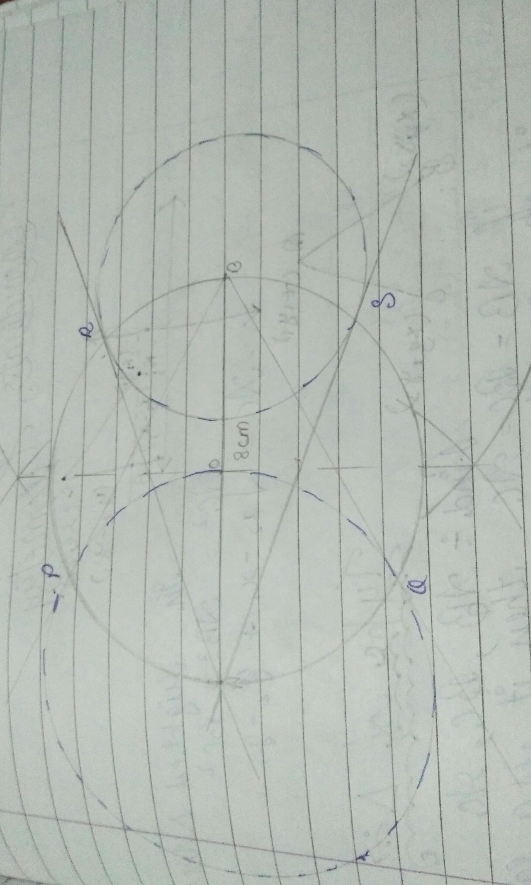 Draw A Line Segment Ab Of Length 8 Cm Taking A As Centre