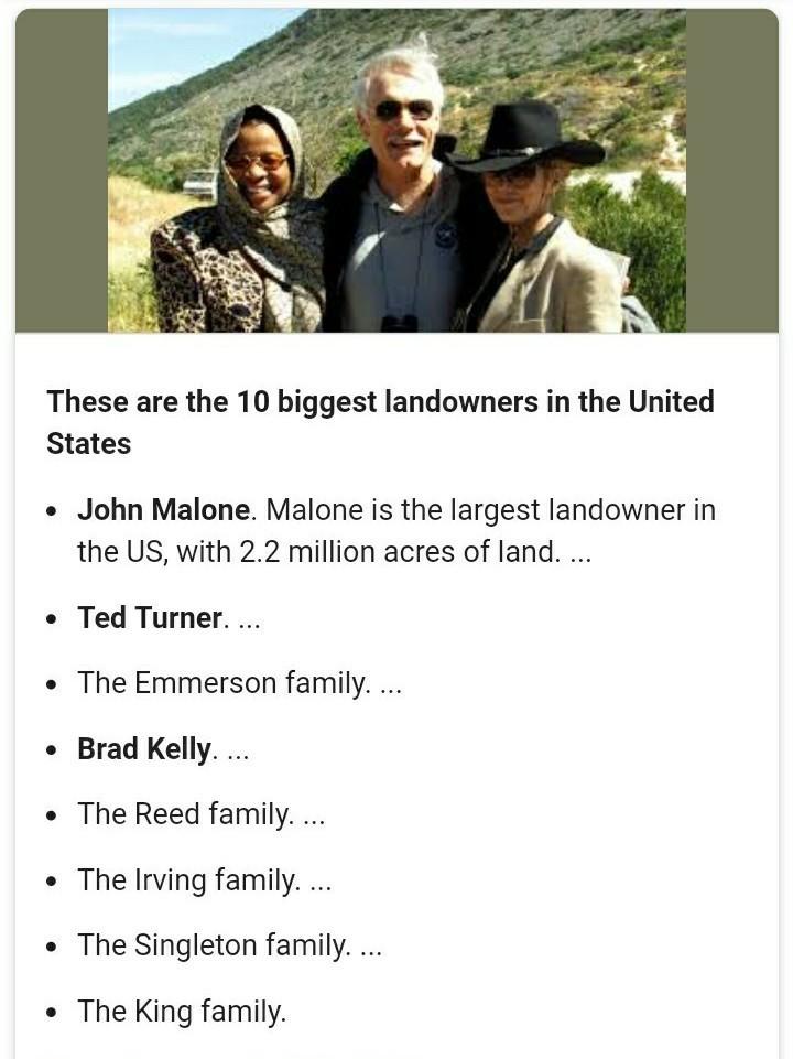 Biggest Landowners In Us : biggest, landowners, Large, Landowners, Called, Brainly.in