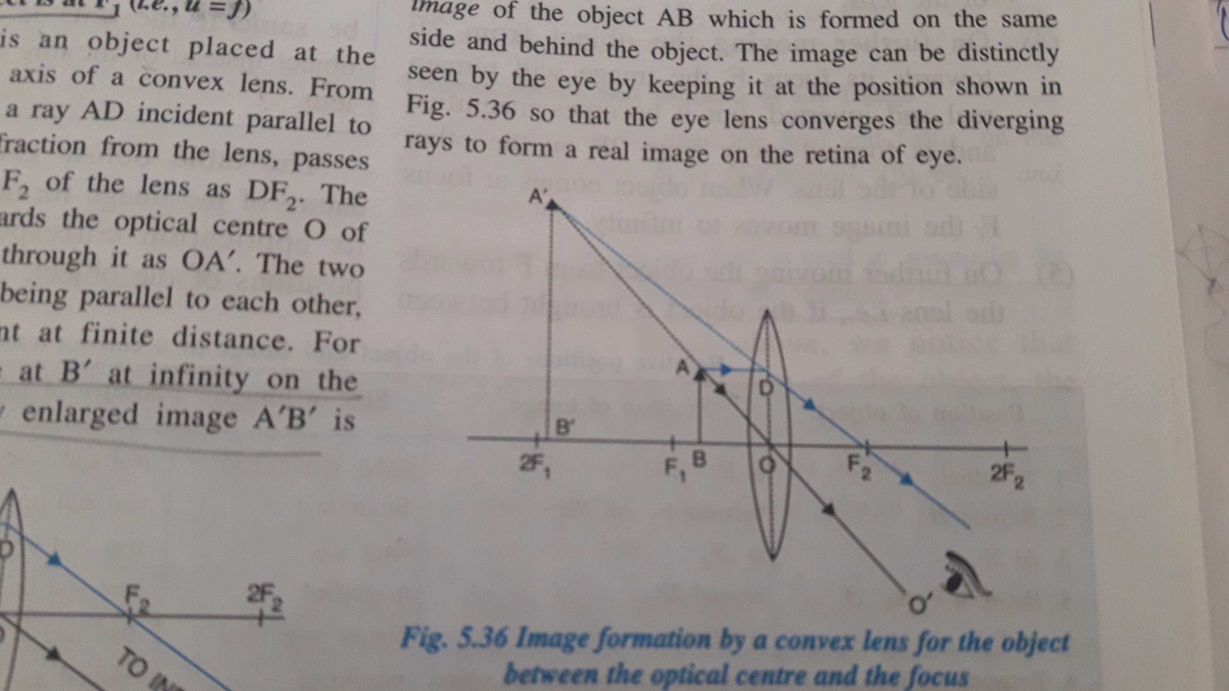 18 Draw A Ray Diagram For The Following Positions Of The